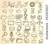 hand drawn web icons set. | Shutterstock .eps vector #352322027