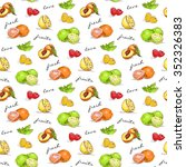 fruits pattern for your design... | Shutterstock . vector #352326383