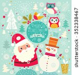 vector cheerful christmas... | Shutterstock .eps vector #352338467