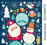 vector cheerful christmas... | Shutterstock .eps vector #352338473