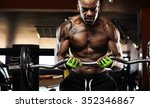 muscular body builder working... | Shutterstock . vector #352346867