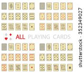 simple set  all playing cards | Shutterstock .eps vector #352349027