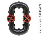 alphabet from oil pipes.... | Shutterstock . vector #352366427