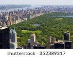 central park bird's eye view. | Shutterstock . vector #352389317