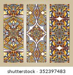 vector set of banners or cards... | Shutterstock .eps vector #352397483