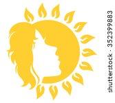 sunny face | Shutterstock .eps vector #352399883