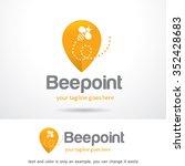bee point logo template design... | Shutterstock .eps vector #352428683
