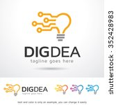 digital idea logo template... | Shutterstock .eps vector #352428983