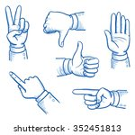 set of business man hands... | Shutterstock .eps vector #352451813