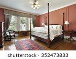 master bedroom in luxury home... | Shutterstock . vector #352473833