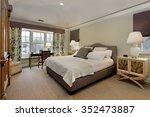 master bedroom in luxury home... | Shutterstock . vector #352473887