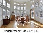 sun room in luxury home with... | Shutterstock . vector #352474847