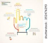 modern infographics options... | Shutterstock .eps vector #352476293