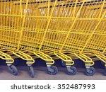 yellow shopping trolley   Shutterstock . vector #352487993