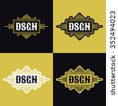 vintage logo  emblem  label ... | Shutterstock .eps vector #352494023
