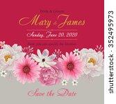 flower wedding invitation card  ... | Shutterstock .eps vector #352495973