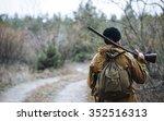 brutal hunter  bearded man in...   Shutterstock . vector #352516313