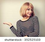 beautiful makeup blond woman... | Shutterstock . vector #352525103