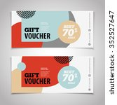 abstract gift voucher or coupon ... | Shutterstock .eps vector #352527647