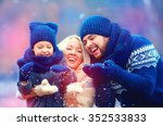 portrait of happy family... | Shutterstock . vector #352533833