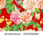 seamless floral pattern with... | Shutterstock .eps vector #352536083