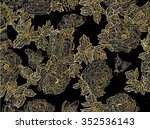 seamless floral pattern with... | Shutterstock .eps vector #352536143