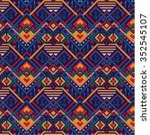vector pattern tribal mix... | Shutterstock .eps vector #352545107