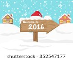 cute cartoon background   happy ... | Shutterstock .eps vector #352547177