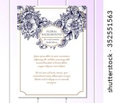 invitation with floral... | Shutterstock .eps vector #352551563