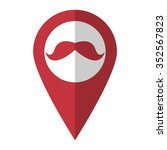mustaches   vector icon  red...