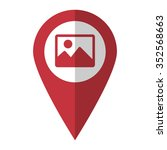 photo   vector icon  red map ...