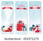 christmas winter banners with... | Shutterstock .eps vector #352571273