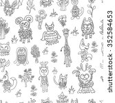 seamless pattern doodle... | Shutterstock .eps vector #352584653
