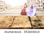 blurred background of venice... | Shutterstock . vector #352603613