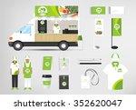 restaurant cafe set shop front... | Shutterstock .eps vector #352620047