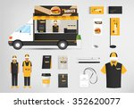restaurant cafe set shop front... | Shutterstock .eps vector #352620077