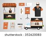 restaurant cafe set shop front... | Shutterstock .eps vector #352620083