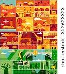 africa pattern. africa vector... | Shutterstock .eps vector #352623323