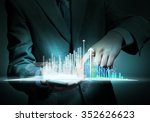 close up of businessman holding ... | Shutterstock . vector #352626623