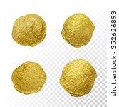 vector gold paint smear stroke... | Shutterstock .eps vector #352626893