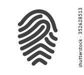 fingerprint  print  unique icon ... | Shutterstock .eps vector #352628513
