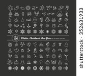 set of icons   new year ... | Shutterstock .eps vector #352631933
