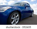 blue convertible sporstcar with ... | Shutterstock . vector #352635