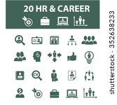 hr  career  job  icons  signs... | Shutterstock .eps vector #352638233