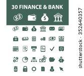 finance  banking  money ... | Shutterstock .eps vector #352640357