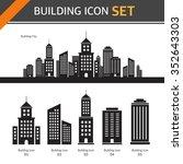 vector building icon set | Shutterstock .eps vector #352643303
