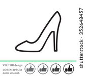 heel shoes icon  | Shutterstock .eps vector #352648457