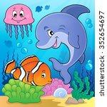 ocean fauna topic image 2  ... | Shutterstock .eps vector #352654697