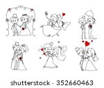 lovely wedding sketch with... | Shutterstock .eps vector #352660463