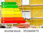 insulation on a house with... | Shutterstock . vector #352660673